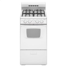20-inch Gas Range with Compact Oven Capacity - white
