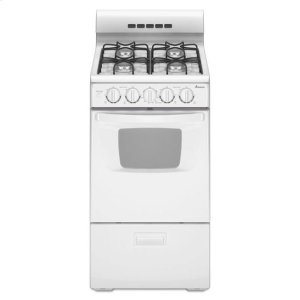 AMANA20-inch Gas Range with Compact Oven Capacity - white