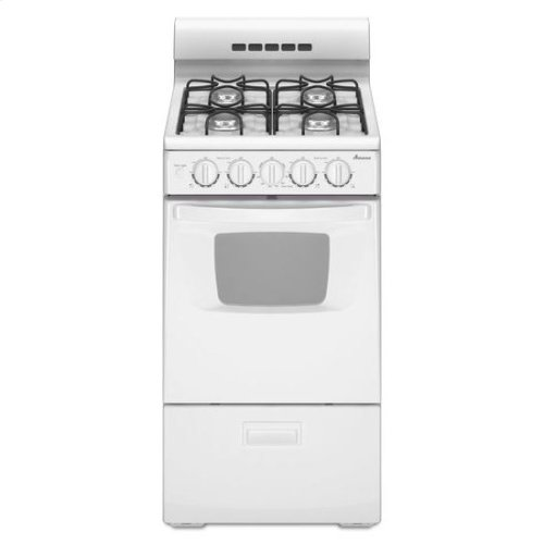 Agg222vdw In White By Amana In Beltsville Md 20 Inch Gas Range