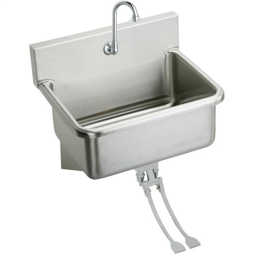 "Elkay Stainless Steel 31"" x 19.5"" x 10-1/2"", Wall Hung Single Bowl Hand Wash Sink Kit"