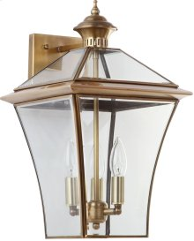 Virginia Triple Light Sconce - Brass