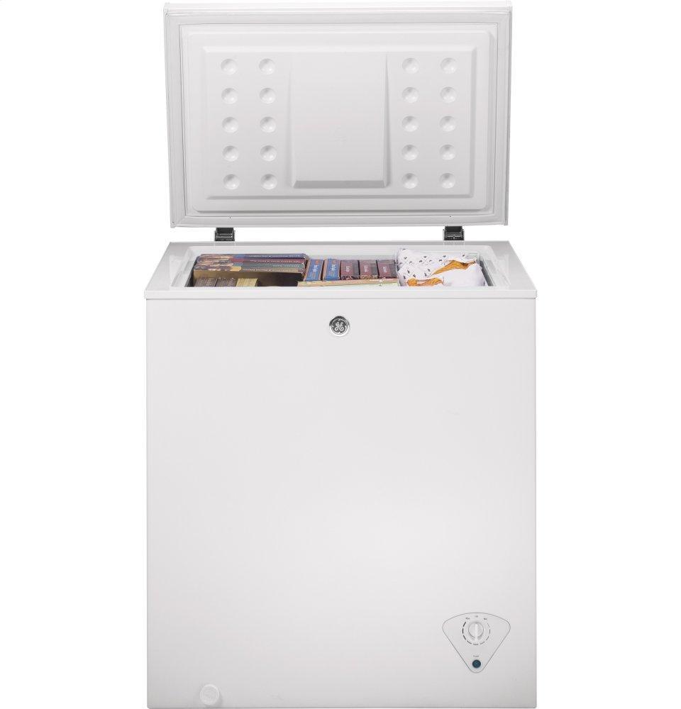 Fcm5skww Ge 174 5 0 Cu Ft Manual Defrost Chest Freezer