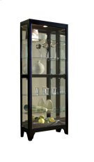 Lighted Gallery Style 5 Shelf Curio Cabinet in Onyx Black Product Image