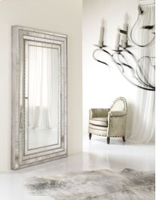 Melange Glamour Floor Mirror w/Jewelry Armoire Storage
