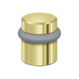 "Round Universal Floor Bumper 1-1/2"", Solid Brass - Polished Brass"
