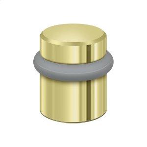 "Round Universal Floor Bumper 1-1/2"", Solid Brass - Polished Brass"