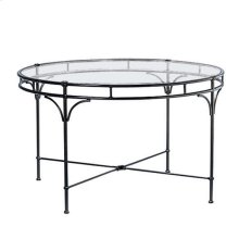 "Florentine 48"" Round Dining Table, Glass Top"