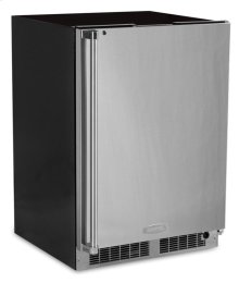 """24"""" All Refrigerator with Drawer Storage - Solid Stainless Door With Lock - Integrated Right Hinge"""