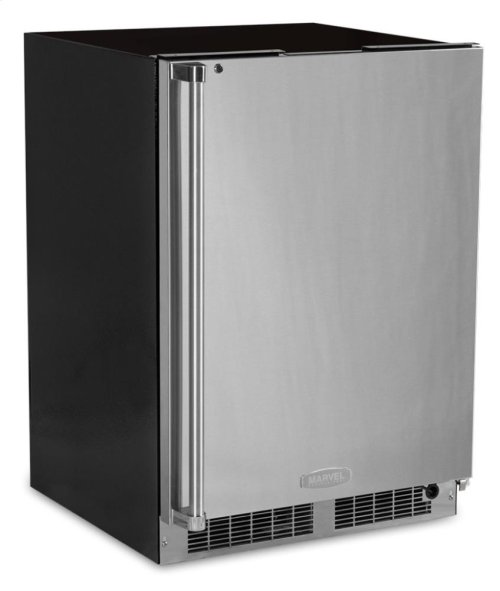 "24"" All Refrigerator with Drawer Storage - Solid Stainless Door With Lock - Integrated Right Hinge"