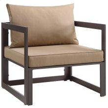 Fortuna Outdoor Patio Armchair in Brown Mocha