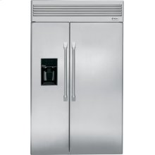 """GE Monogram® 48"""" Professional Built-In Side-by-Side Refrigerator with Dispenser"""
