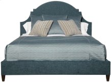Queen-Sized Lindsey Upholstered Bed in Espresso