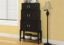 """STORAGE CABINET - 55""""H / CAPPUCCINO STACKING STYLE"""