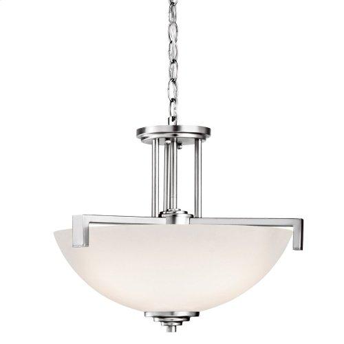 Eileen 3 Light Convertible Pendant with LED Bulbs Chrome