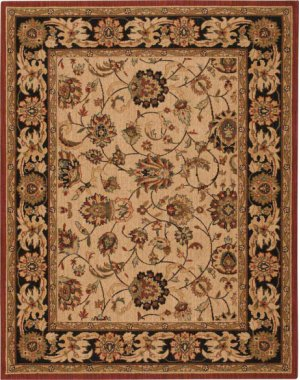 Hard To Find Sizes Grand Parterre Pt01 Beige Rectangle Rug 5' X 6'6''
