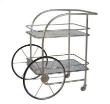 2-tier Silver Metal Bar Cart: Chariot