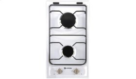"White 12"" Gas 2 - Burner"