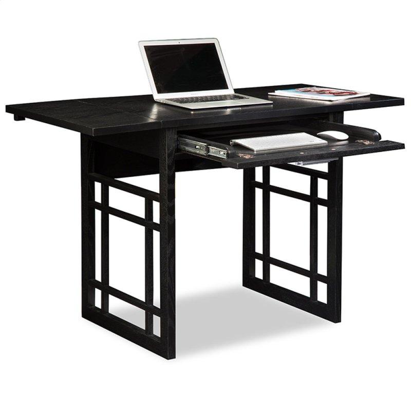 Black Oak Drop Leaf Computer Writing Desk 83420