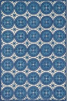 Ivory / Blue Rug