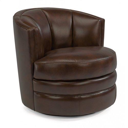 Willa Leather Swivel Chair