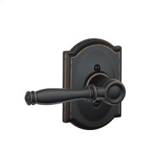 Birmingham Lever with Camelot trim Non-turning Lock - Aged Bronze