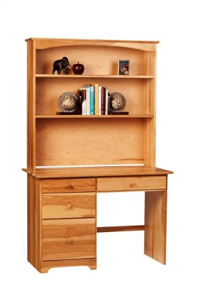 Home Office Desk Hutch With Two Fixed Shelves