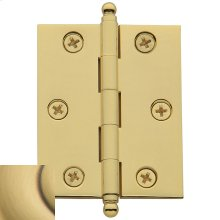 Satin Brass and Brown Cabinet Hinge