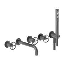 Wall-mount tub filler