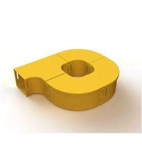 "Mighty Mo Fiber Raceway, Fiber Storage loop, offset, 4"" x 4"", yellow"