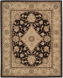 Nourison 2000 2239 Blk Rectangle Rug 2' X 3'