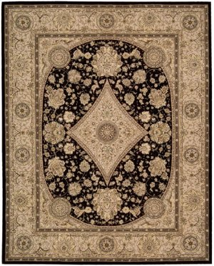 Nourison 2000 2239 Blk Rectangle Rug 2'6'' X 4'3''