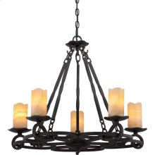 Armelle Chandelier in Imperial Bronze
