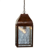 Rustic Lantern with Mercury Glass Pendant. 100W Max. Plug-in with Hard Wire Kit Included. Product Image
