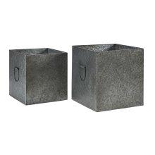 Metal Square Kinlen Boxes - Set of 2