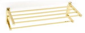 Cube Towel Rack A6526-24 - Polished Brass