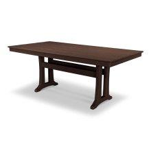 """Mahogany Farmhouse 37"""" x 72"""" Dining Table"""
