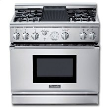 """36"""" PRO GRAND® ALL-GAS SELF-CLEANING RANGE WITH 4 STAR® BURNERS (2 W/EXTRALOW®) AND GRILL"""