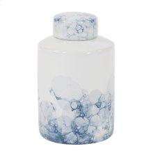 Blue and White Porcelain Tea Jar, Large