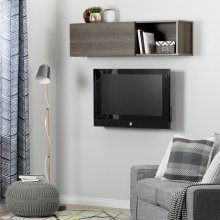 Wall Mounted Storage Unit - Gray Maple