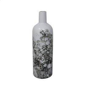 """Ceramic 12"""" Bottle Vase, Black/white"""