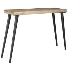 Taros Console Table in Reclaimed and Black Legs