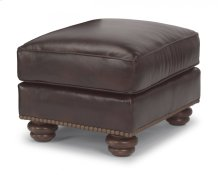 Bexley Leather Ottoman with Nailhead Trim