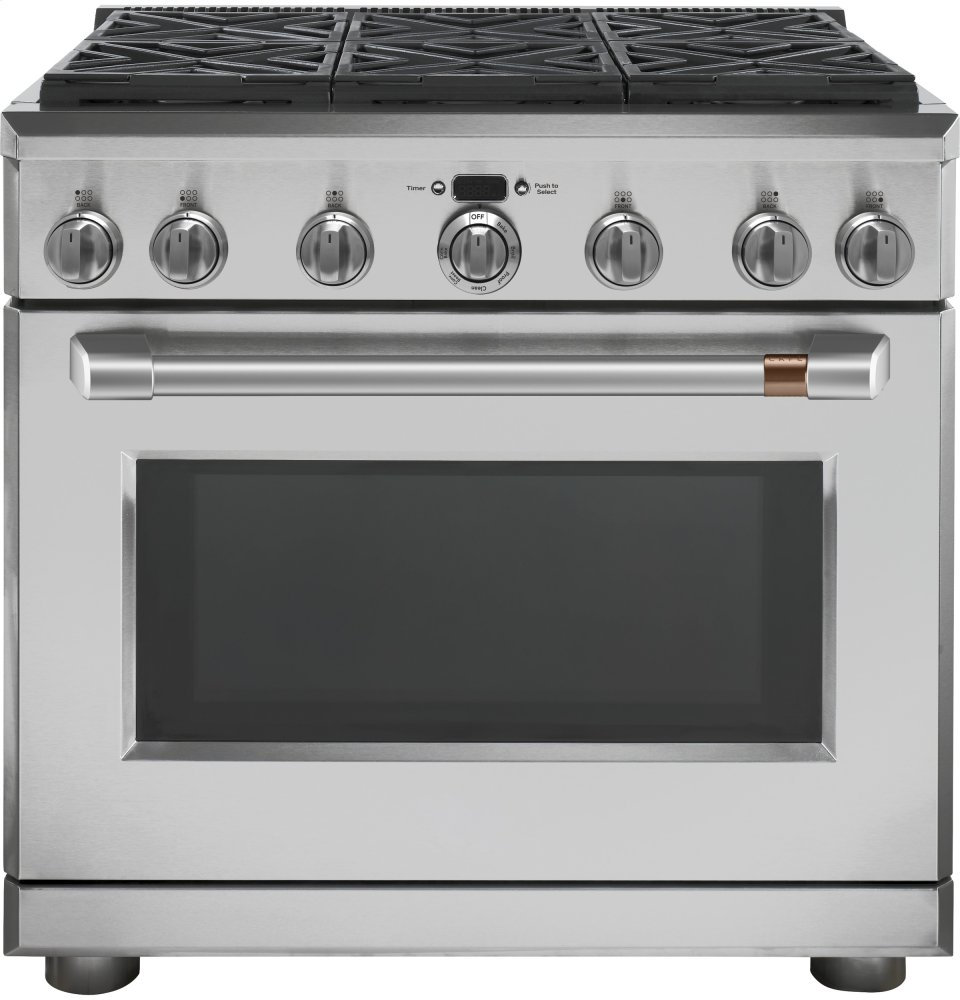 "Caf(eback) 36"" All Gas Professional Range with 6 Burners (Natural Gas)