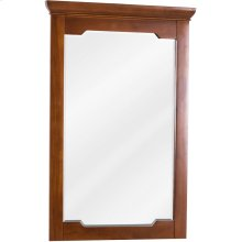"""22"""" x 34"""" Beveled glass mirror with Chocolate Brown finish."""