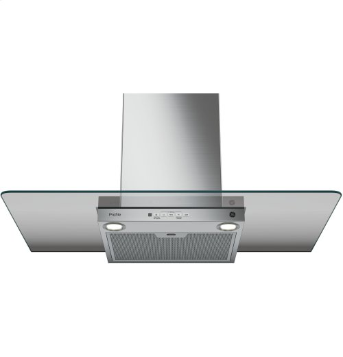 "GE Profile™ Series 36"" Wall-Mount Glass Canopy Chimney Hood"