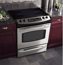 "GE Profile 30"" Slide-In Electric Range with Trivection® Technology"