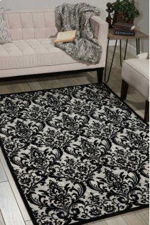 Damask Das02 Black/white Rectangle Rug 2'3'' X 3'9''