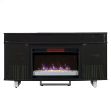 Enterprise TV Stand with Electric Fireplace and sound