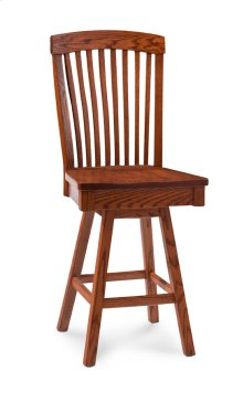 "Justine Swivel Barstool, Specify Seat Height 17""-31"", Fabric Seat"
