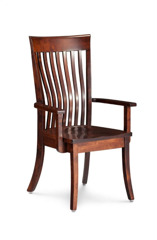 Loft II Arm Chair, Wood Seat